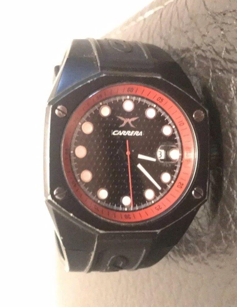 Sehr Schöne Uhr von Carrera In Rot Schwarz