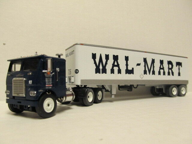 DCP 1/64 SCALE FREIGHTLINER CAB OVER  WAL-MART  CAB WITH DRY VAN TRAILER  32158