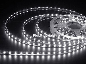 WHITE-WATERPROOF-5-meter-3528-LED-STRIP-WITH-12v-ADAPTOR-230v-AC-DECORATION