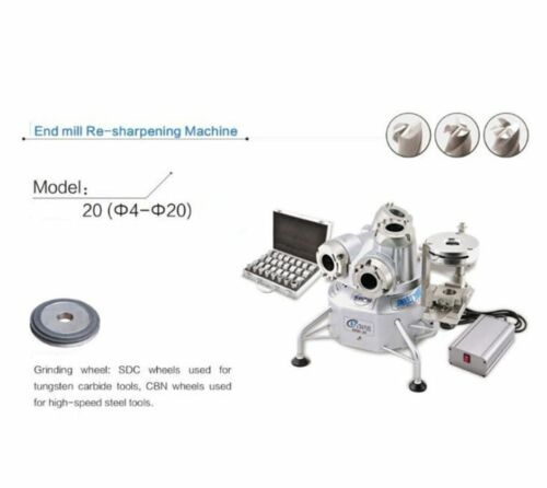 New End mill re-sharpening machine 20 T