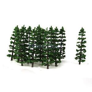 20 Stück Künstlich Modellbäume Eisenbahn Landschaft Architektur 1:100 Modell