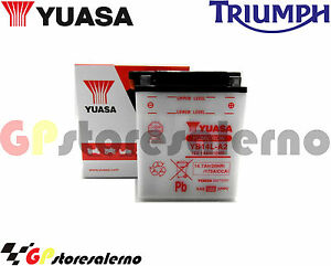 BATTERIA-YUASA-YB14L-A2-TRIUMPH-900-Trident-1994