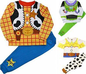 Kids-Boys-Girls-Disney-Toy-Story-Buzz-Lightyear-and-Woody-Pyjamas-Fancy-Dress-Pj