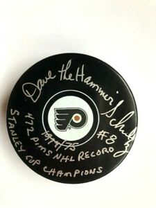 Philadelphia-Flyers-Dave-The-Hammer-Schultz-Autographed-Puck
