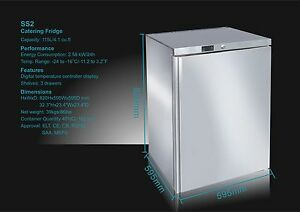 Image Is Loading Igloo Catering Stainless Steel Under Bar Freezer 115lt