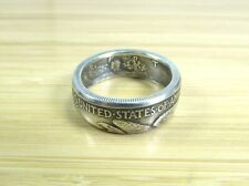 WALKING LIBERTY Silver Half Dollar U.S. Coin Ring Tails (Sizes 6-13) Antiqued