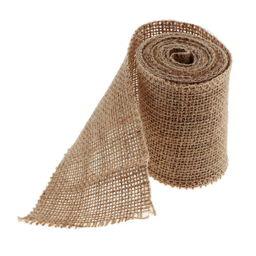 2 Meters Rustic Mesh Burlap Ribbon Trim String for Gift Flower Wrapping 80mm