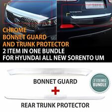 Chrome Bonnet Guard & Rear Trunk Protector Bundle for KIA 2015 - 2016 Sorento UM