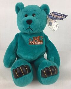 Dan Marino Beanie Bear Plush 13 Miami Dolphins Nfl Numbered Limited