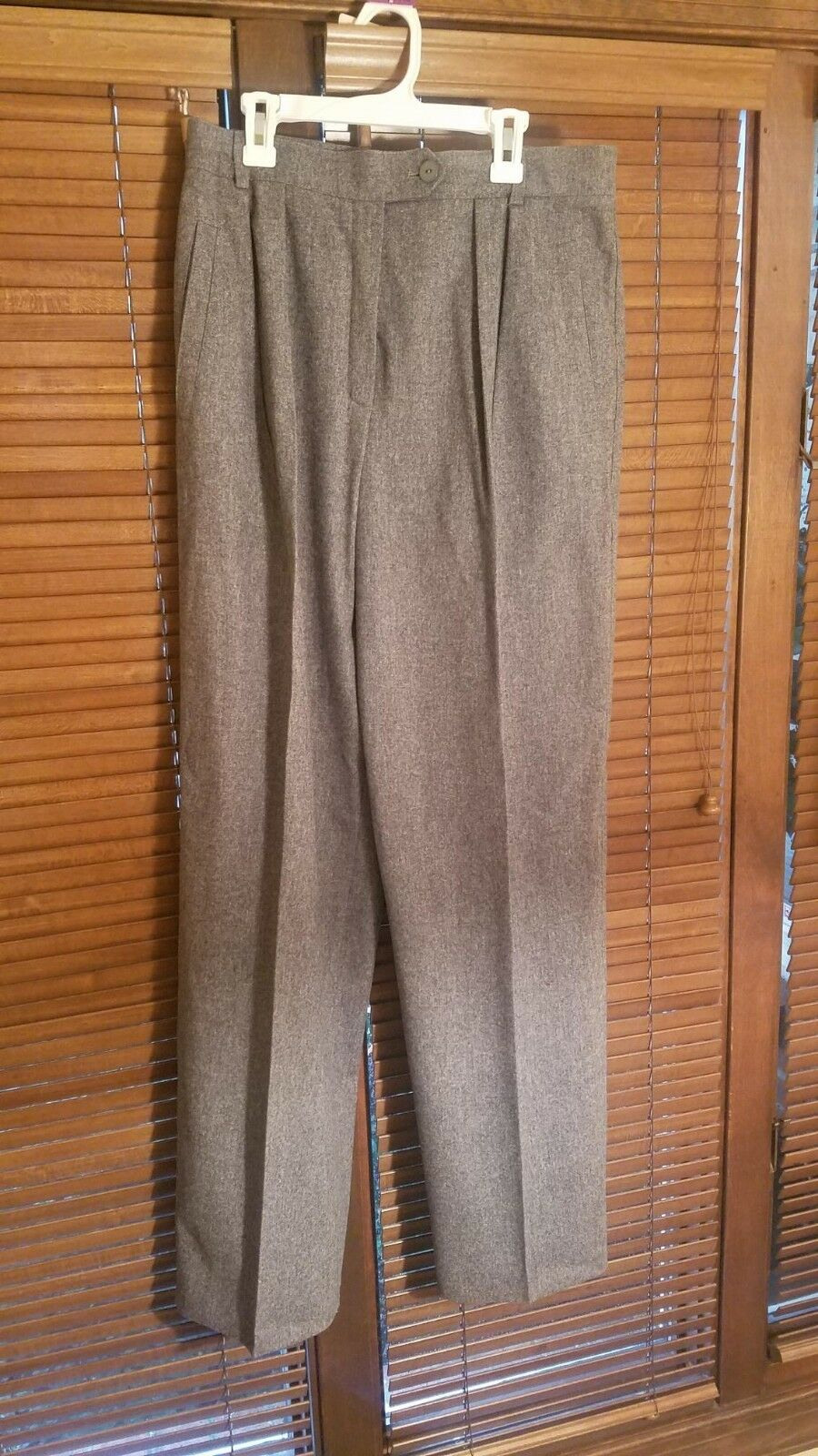 Escada charcoal grau wool pants Größe 40 made in Germany Very good condition