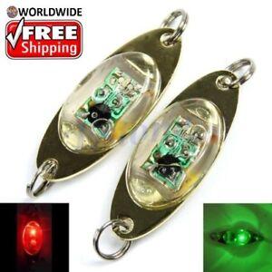 "New LARGE Size 5/"" Flashing LED Deep Drop Underwater Fishing Squid Lure Light"