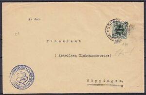 Wurttemberg-Service-mi-No-164-Ef-Lettre-Verifie-Infla-Envoye-039-Goppingen-1923