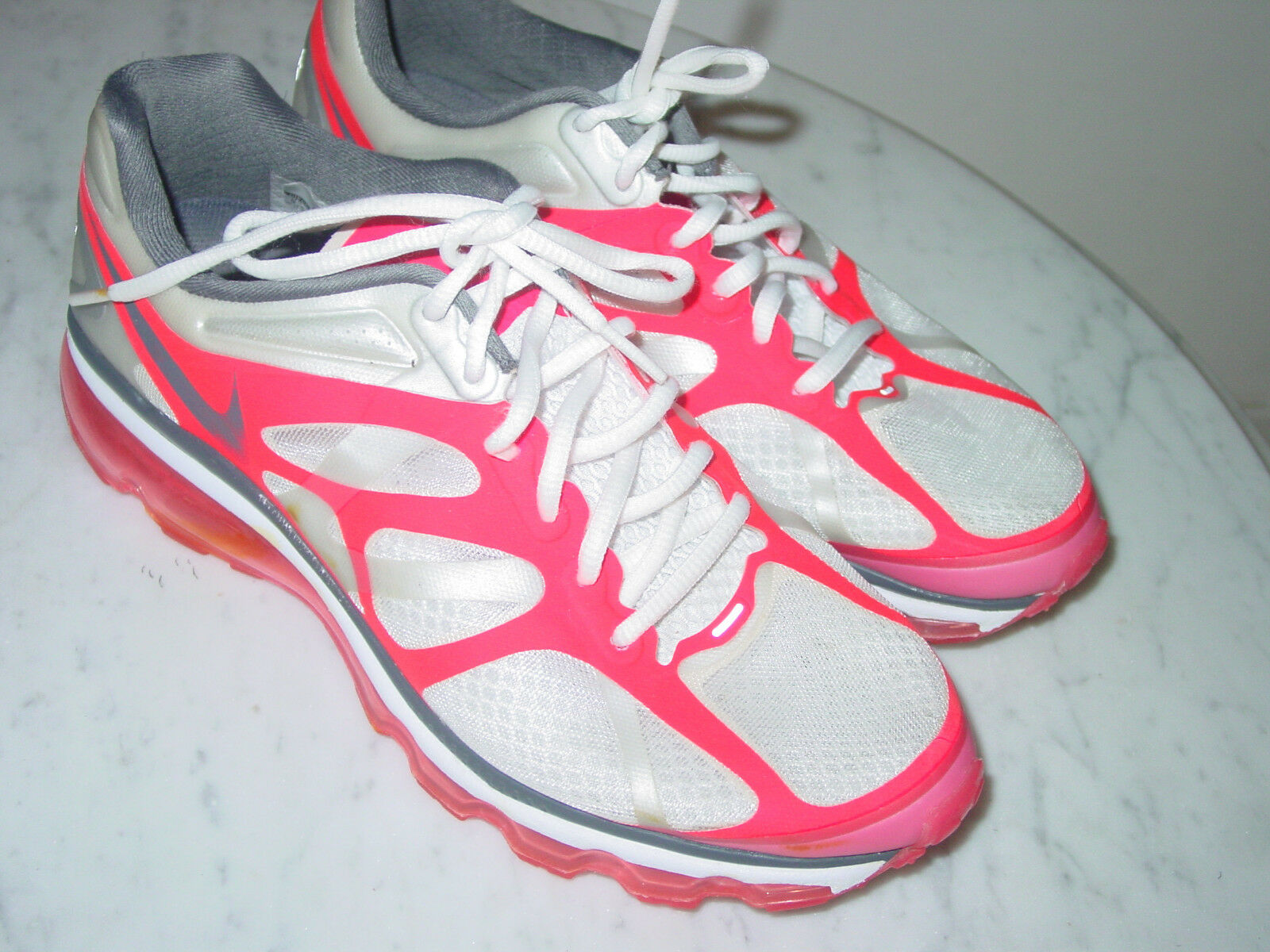 2011 Nike Air Max+ 2012 White/Dark Grey/Pink Running Shoes! Comfortable Seasonal price cuts, discount benefits