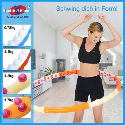HEALTH HOOP® Hula Hoop Fitness Reifen Massagenoppen gewichtet 0,72//0,1//1,2//1,7kg