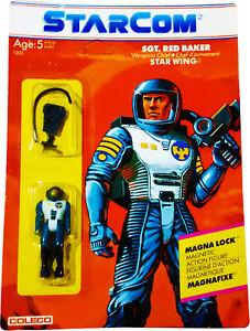 Starcom ™ Sgt. Figurine Action Red Baker - Vintage 1986 Mosc Nouveau! Afa It! 76930013021