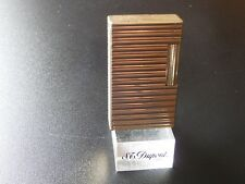 S T Dupont  Line1  Large Lighter Gold Plated with Horizontal Lines