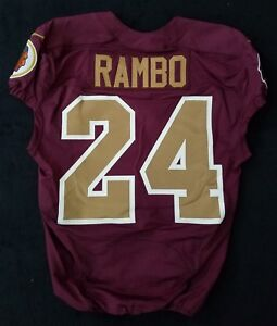 online retailer 2f76a 33a06 Details about #24 Bacarri Rambo of Washington Redskins NFL Game Issued  Alternate Jersey
