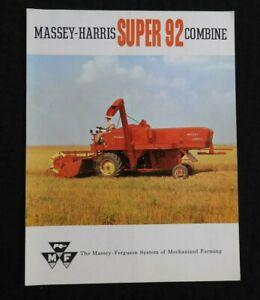 1960-Massey-Harris-MH-034-Super-92-Combinare-034-Caratteristiche-Brochure-Bello