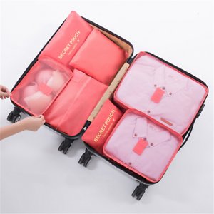 Packing-Cubes-Travel-Pouches-Luggage-Organiser-Clothes-Suitcase-Storage-Bag-7Pcs
