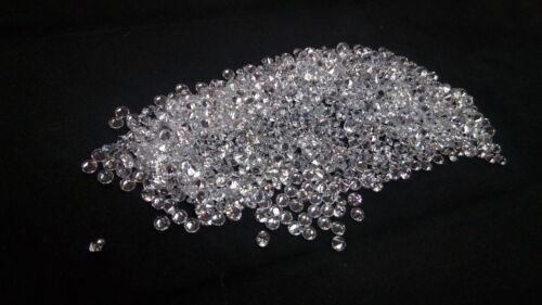 3mm Blanco zirconia cúbico redondo cortar piedra suelta AAAAA Lote de 50 Piedras