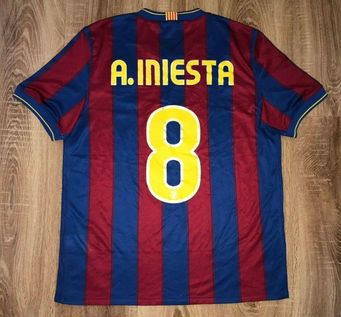 Barcelona 2009  2010  8 INIESTA RARA Home Camicia Taglia M