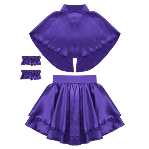 Kids Girl Costume Cosplay Party The Greatest Show Fancy dress Cape Leotard Skirt