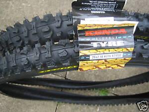 Pair-of-Kenda-cycle-bike-tyres-26-x-2-10-brand-new-inc-2-FREE-Kenda-inner-tubes