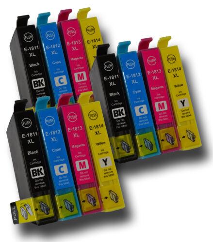 12 x Tinte Kartuschen Nicht-OEM Alternative für Epson 16 T1621,T1622,T1623,T1624