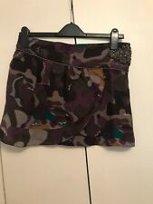 1776d7e6cdb Beautiful Liu Jo 100% Silk Skirt Camouflage Print Size UK 8 Made In Italy