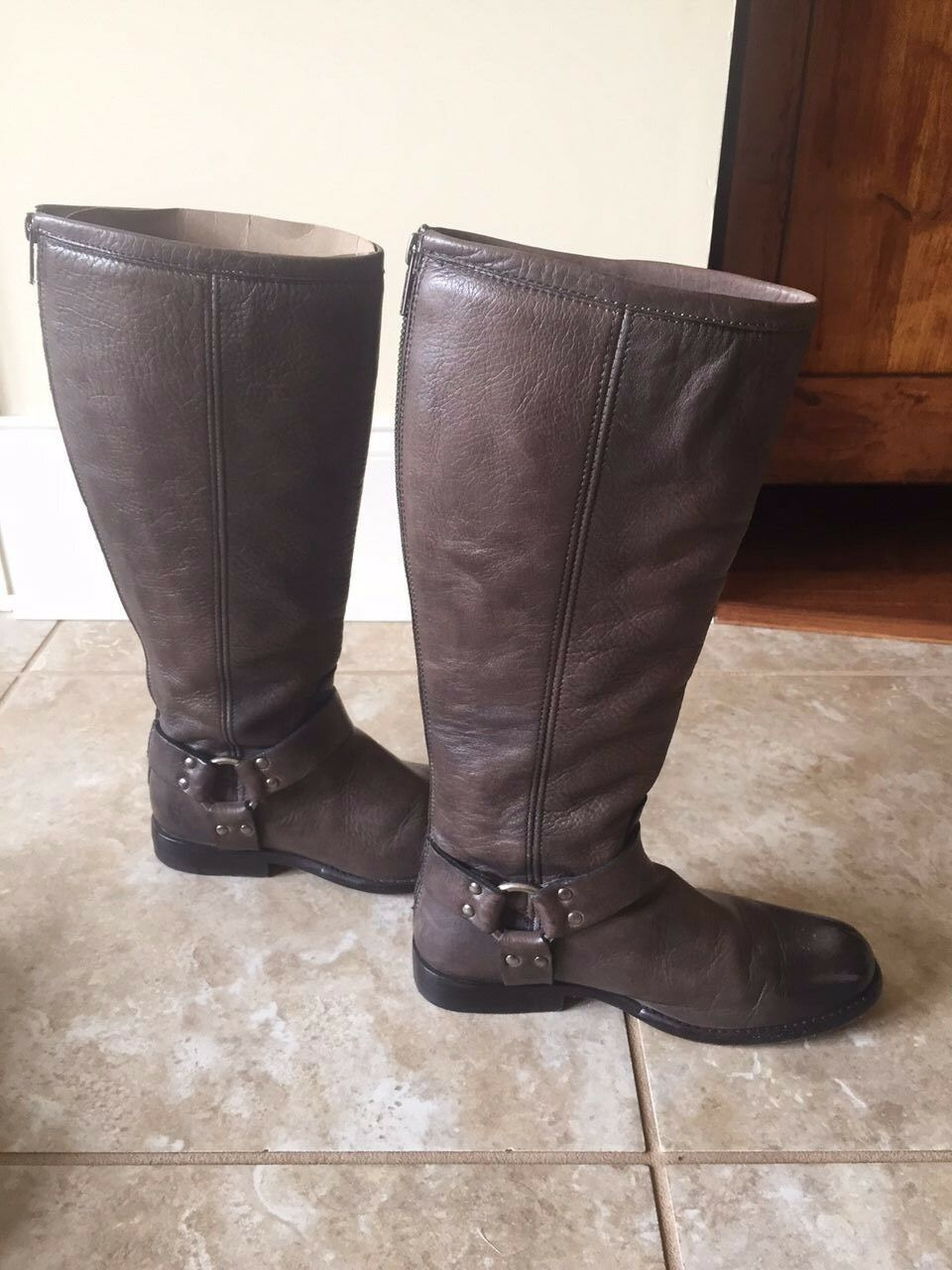 Frye Frye Frye Size 6 1 2 B Phillip Harness Tall   358 Brown Soft Vintage Leather 1f1c5c