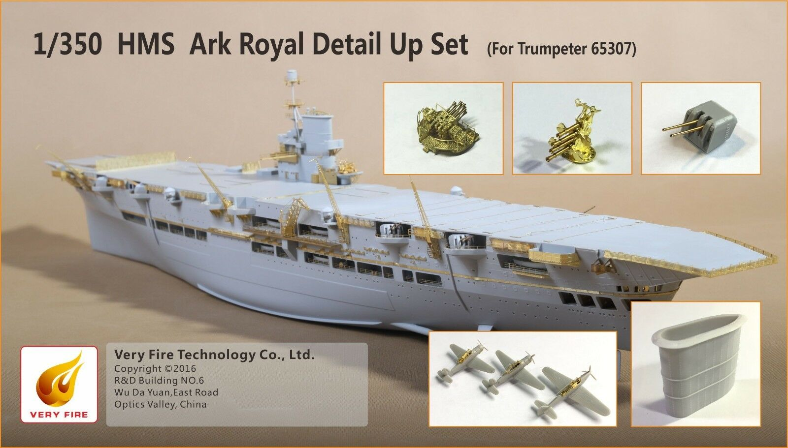 Very Fire Detail Up Set for 1 350 HMS Ark Royal(for Trumpeter 65307)