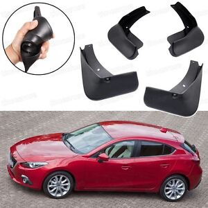 Car Mud Flaps Splash Guard Fender Mudguard Black for Mazda ...2014 Mazda 3 Hatchback Black