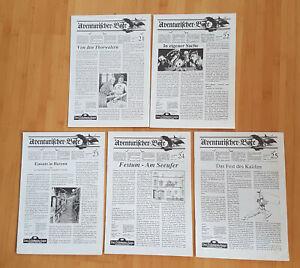 5 x Aventurischer Bote, Ausgaben Nr. 21-25, guter Zustand