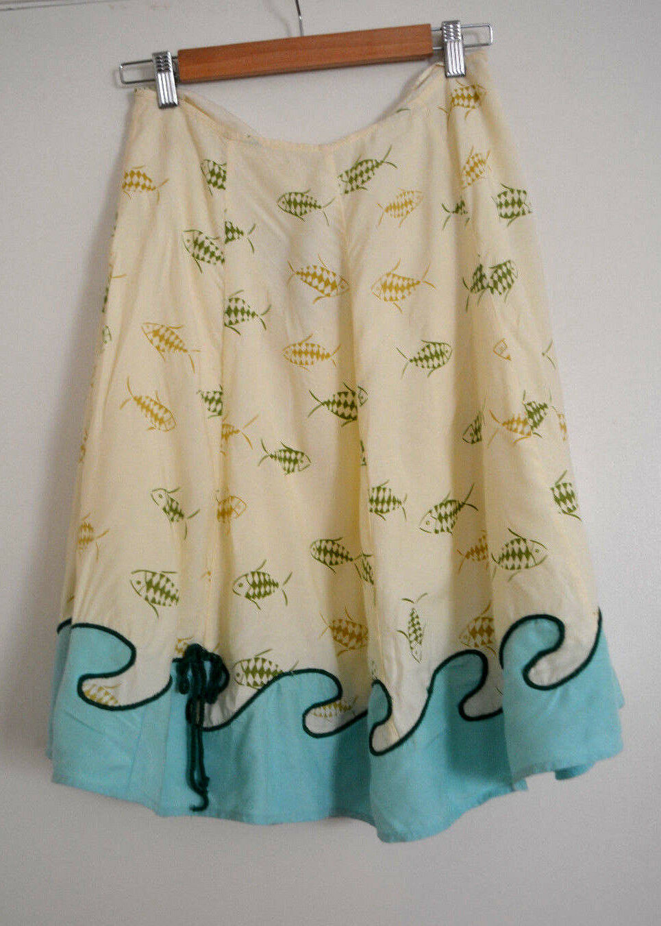 2 NWT Anthropologie Whimsical Fish Wave Skirt Very RARE