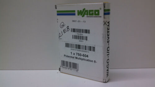 WAGO MODULE 750-604 NEW SEALED IN BOX