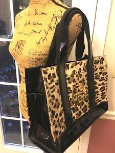 ba9778080506 EUC Tory Burch Ella Medium Leopard Calf hair Tote handbag-$550 | eBay