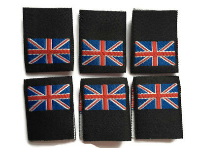 Union Flag Woven Clothing Garment Label Loop Folded Labels 25mm Tag Union Jack