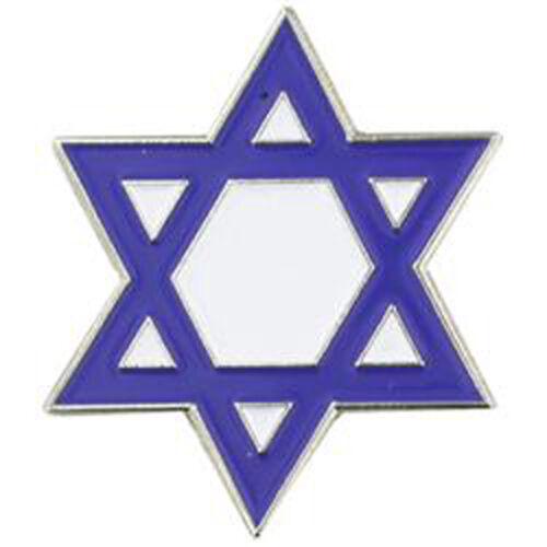 PinMart/'s Blue and White Jewish Star of David Enamel Lapel Pin