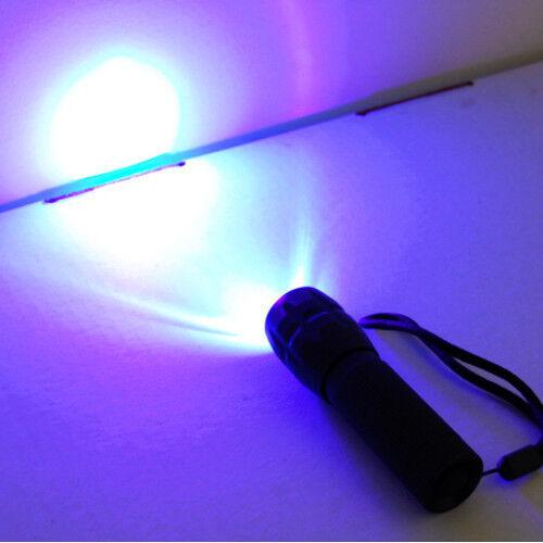 3W LED 390nm UV Flashlight with Zoom for Crime Scene Arson Investigation