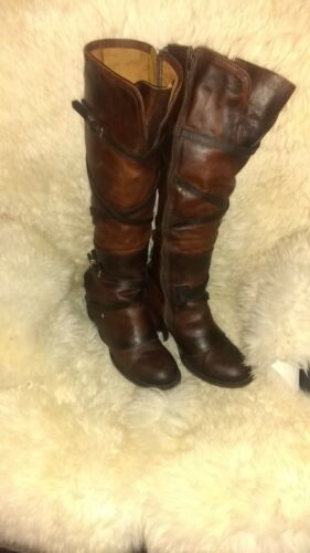 Freebird Cassius boots size 12 whiskey brown leath