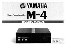 Yamaha M-4 Amplifier Owners Manual