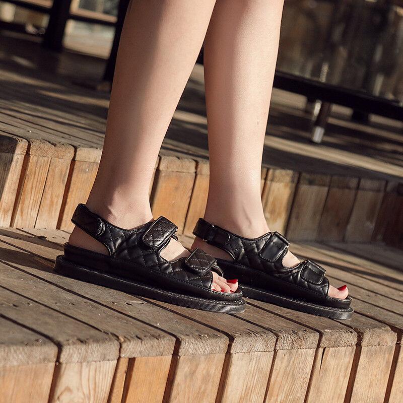 Sandali eleganti bassi simil  ciabatte nero platform comodi simil bassi pelle 1105 5f2811