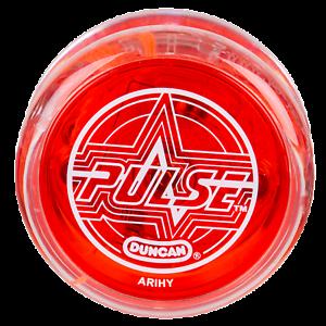 Duncan Pulse Yo Yo Red And Clear Led Yoyo 3 Neon Strings Yel Org Grn 634030179209 Ebay