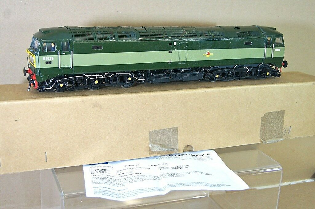 DJH O GAUGE DCC SOUND KIT BUILT BR verde CLASS 47 DIESEL LOCOMOTIVE D1639 sc
