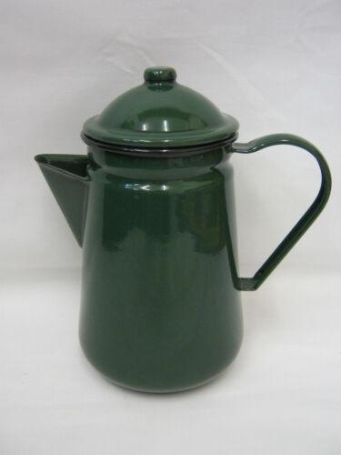 New Falcon émail 13 cm 1.25ltr coffee pot Camping Vert