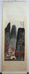 Excellent-Chinese-100-Hand-Painting-amp-Scroll-Landscape-By-Bai-XueShi-BYYCD9