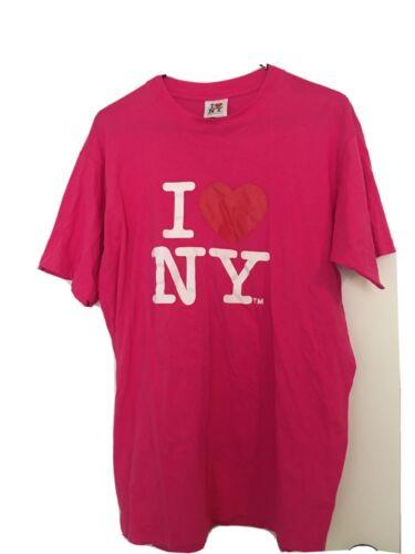 I Love NY Adult Short Sleeve T-Shirt Sz XL Pink Sh
