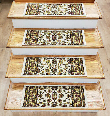 Rug Depot 13 Traditional Non Slip Carpet Stair Treads 26 X 9 Ivory Stair Rugs 16136200009 EBay