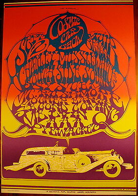 CAESAR CHAVEZ GRAPE STRIKERS POSTER PSYCHEDELIC FILLMORE ERA 1967 MINT CONDITION