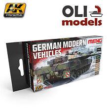 German Modern Vehicles Colors Acrylic Paint Set 6x17ml - AK Interactive Meng 802
